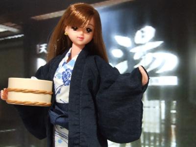 紺系 温泉旅館風 コーディネイト